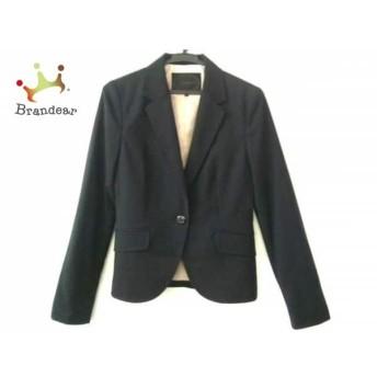 アンタイトル UNTITLED ジャケット サイズ2 M レディース 黒 ストライプ スペシャル特価 20190817【人気】