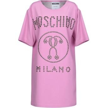 《期間限定セール開催中!》MOSCHINO レディース ミニワンピース&ドレス ピンク 40 レーヨン 65% / アセテート 23% / ポリウレタン 7% / 指定外繊維 5%