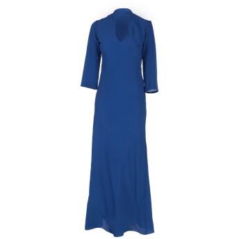 《セール開催中》KITAGI レディース ロングワンピース&ドレス ブルー 40 アセテート 69% / シルク 31%