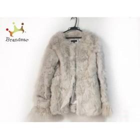 リエンダ rienda コート サイズS レディース ベージュ ラビットファー/冬物   スペシャル特価 20190201【人気】