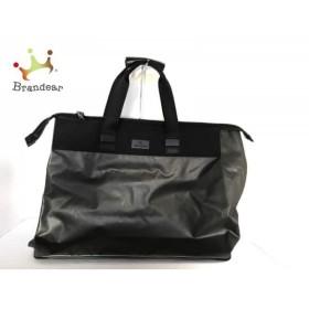 イッセイミヤケ ISSEYMIYAKE ハンドバッグ 黒 コーティングキャンバス×化学繊維         スペシャル特価 20191103