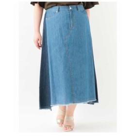 eur3 / 【大きいサイズ】デニムロングスカート