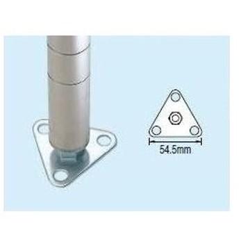【直送品】 サカエ (SAKAE) 三角フットプレート(ユニクロ) FTP (072212) 《スチール棚》