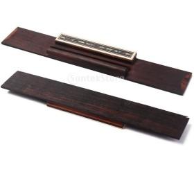ノーブランド品 レトロ ローズ ウッド クラシック ギター ブリッジ 伝統的 スタイル