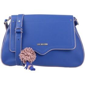 《セール開催中》LOVE MOSCHINO レディース 肩掛けバッグ ブルー 紡績繊維