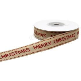 ジャカード トリム クリスマス リボンギフト ロール織り デコレーション 飾りテープ 全3種選べ - メリークリスマス