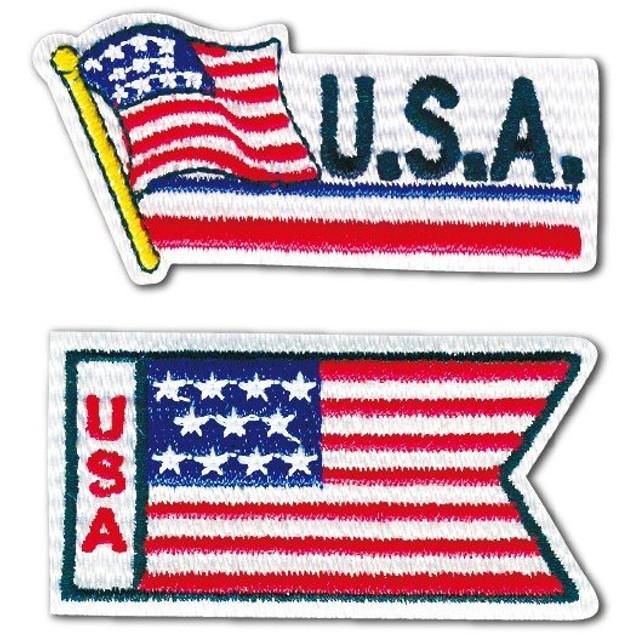 05197 国旗ワッペンシリーズ「アメリカ/U.S.A」アイロン・シール両用タイプ
