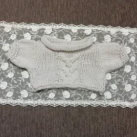 ウォルドルフ人形C体用 ベージュ縄編みセーター