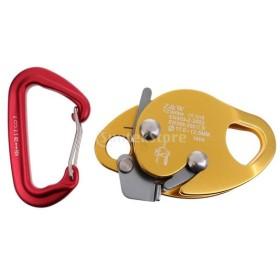 アルミ クライミング ロープグラブ スプリング カラビナ 登山装備 高強度 2点セット
