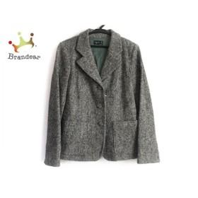 アニエスベー agnes b ジャケット サイズ38 M レディース グレー ツイード           スペシャル特価 20190601