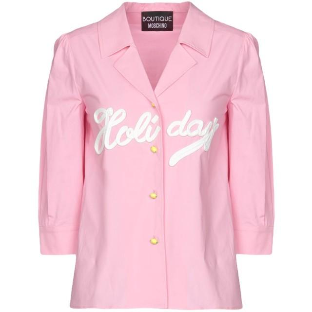 《期間限定 セール開催中》BOUTIQUE MOSCHINO レディース シャツ ピンク 38 コットン 96% / 指定外繊維 4%