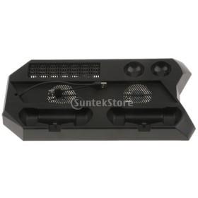 PS4 Pro コンソール用 垂直スタンド 冷却ファン付き  二重充電ドックステーション