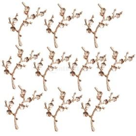 10個 おしゃれ 合金製 植物 葉のデザイン ペンダント 魅力 DIY 金色 デコレーション 全7様式選ぶ - 様式4