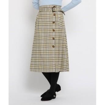 AG by aquagirl / エージー バイ アクアガール 起毛チェック柄ボタンスカート