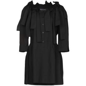 《期間限定セール開催中!》BOUTIQUE MOSCHINO レディース ミニワンピース&ドレス ブラック 38 コットン 96% / 指定外繊維 4%
