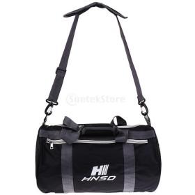 ウェット/ドライセパレーション 水泳 収納バッグ ジッパー ハンドバッグ ショルダーバック バックパック 全5色 - 黒