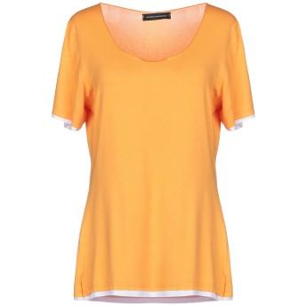《セール開催中》ANDREA MORANDO レディース T シャツ オレンジ S レーヨン 92% / ポリウレタン 8%