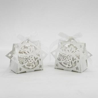 ノーブランド品 20枚 リボン 結婚式 パーティー クリスマス ベル ギフト キャンディボックス