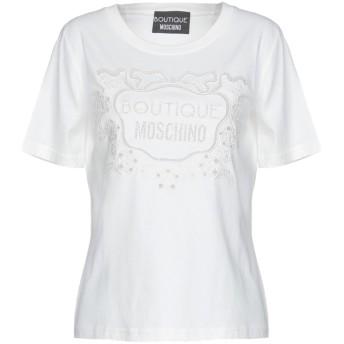 《期間限定セール開催中!》BOUTIQUE MOSCHINO レディース T シャツ ホワイト 44 コットン 100%