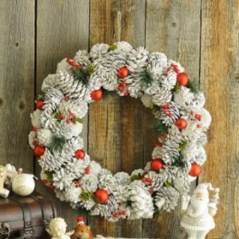 北欧クリスマスリース ショートケーキL クリスマス 飾り 装飾 リース 手作り オーナメント 自然 ヨーロピアン