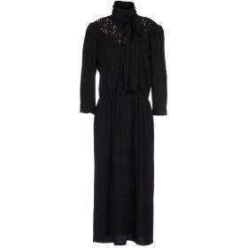 《送料無料》MARC JACOBS レディース 7分丈ワンピース・ドレス ブラック 2 トリアセテート 63% / ポリエステル 37%