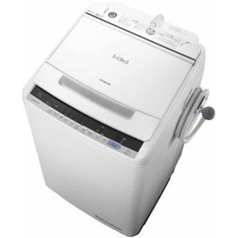 HITACHI 全自動洗濯機 洗濯8kg 上開き ホワイト BW-V80C-W 日立