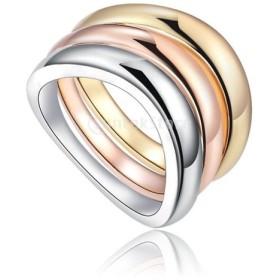 女性 3色リング 分離可能 バンド 指輪 シンプル 全3サイズ - サイズ8