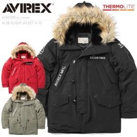 AVIREX アビレックス 6182209 N-3Bフライトジャケット X-15 メンズ ミリタリージャケット ジャンバー ミリタリーコート ブランド【クーポン対象外】