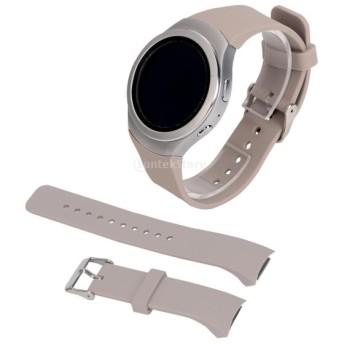 スポーツ シリコーン 腕章 リストバンド 時計バンド ストラップ Samsung Gear S2対応 - カーキ