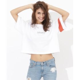 サマンサベガ ショート丈ロゴTshirts レディース ホワイト FREE 【Samantha Vega】