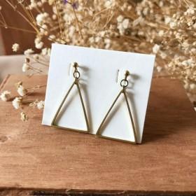 真鍮のイヤリング三角ジオメトリ(変更可能)