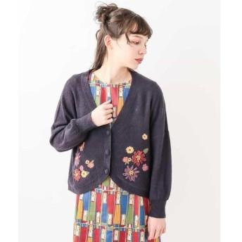 Jocomomola / ホコモモラ SORTILEGIO KNIT リボン刺繍 カーディガン