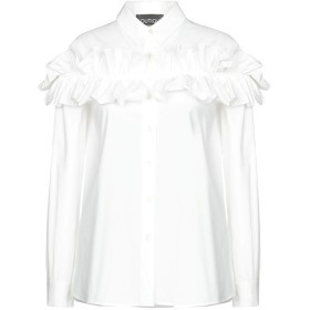 《期間限定 セール開催中》BOUTIQUE MOSCHINO レディース シャツ ホワイト 42 コットン 96% / 指定外繊維 4%