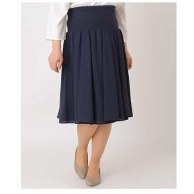 eur3 / 【大きいサイズ】ドレープデザインスカート