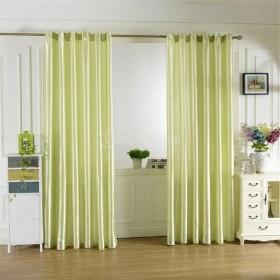 6色2サイズ選べる ブラックアウト 窓 カーテン サテンカーテン 窓ブラインド ロッドポケットカーテン エレガント - グリーン, 200x250cm
