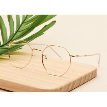 芸能人愛用の眼鏡 伊達メガネ 眼鏡 イレギュラー ヴィンテージ 韓国ファッション