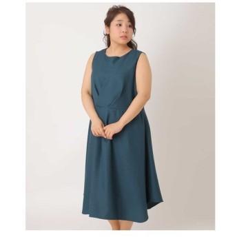 eur3 / 【大きいサイズ】【3way】タックデザインワンピースドレス