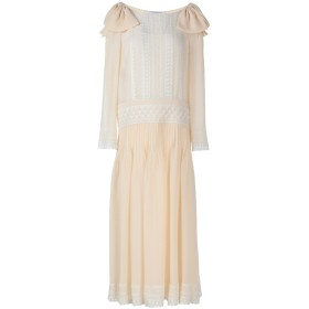 《セール開催中》PHILOSOPHY di LORENZO SERAFINI レディース 7分丈ワンピース・ドレス サンド 40 ポリエステル 100%