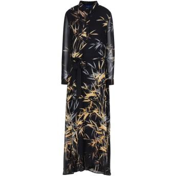 《セール開催中》ANONYME DESIGNERS レディース 7分丈ワンピース・ドレス ブラック M 100% ポリエステル