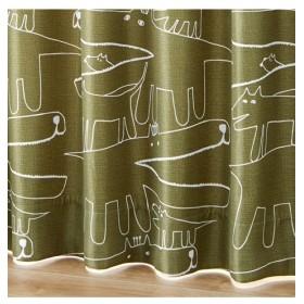 【1cm単位オーダー】手書きタッチアニマル柄遮光カーテン(1枚) ドレープカーテン(遮光あり・なし)