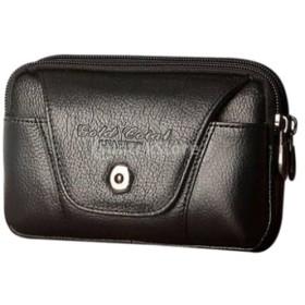 多種スマホ兼用 スマホポーチ 携帯電話入れ 横型 ウエストバッグ ベルト取付 4タイプ - ブラック#3