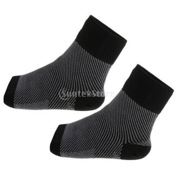 圧迫 腕サポート 靴下 ユニセックス ソックス 腫れ軽減 快適 ソフト 着やすい M / L 黒 全2サイズ選べ - l