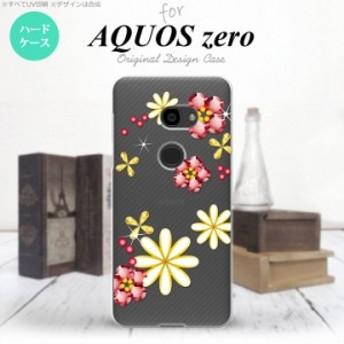 AQUOS zero アクオス ゼロ 801SH スマホケース ハードケース 花柄・ミックス(E) クリア nk-801sh-306
