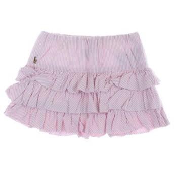RALPH LAUREN / ラルフローレン キッズ スカート 色:ピンクx白(ストライプ) サイズ:130