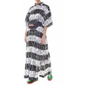 ケンゾー ドレス カジュアルドレス 結婚式用 レディース【Kenzo Bamboo Stripes-print Cotton And Linen-blend