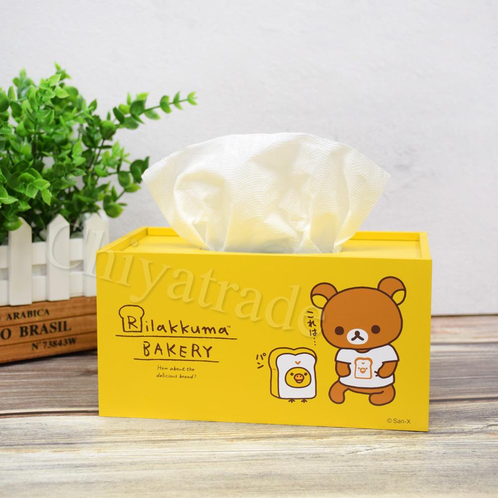 【Rilakkuma】拉拉熊 懶懶熊超萌抽拉式 面紙盒 衛生紙盒-烘焙趣-黃