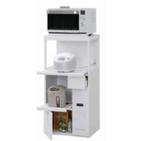 レンジ台(ファインキッチン) SK-306W 送料無料 キッチンラック ラック 棚 米びつ 収納 キッチ