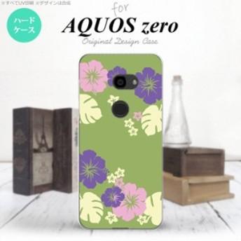 AQUOS zero アクオス ゼロ 801SH スマホケース ハードケース ハイビスカス 緑 nk-801sh-451