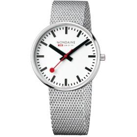 メンズ腕時計 ジャイアント バックライト 42mm MSX.4211B.SM ホワイト・メッシュベルト