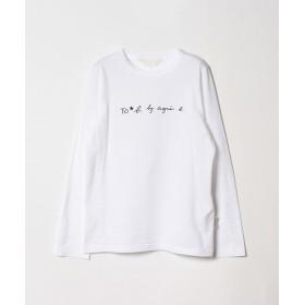 アニエスベー WM40 TS ロゴTシャツ レディース ホワイト 38(M) 【agnes b.】